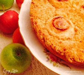 Яблочный пирог с пудинговой начинкой