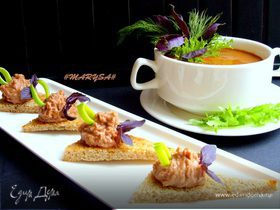 Фасолевый суп-пюре с сельдереем и морковью