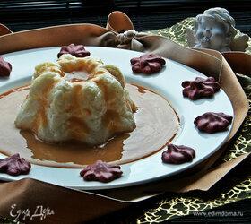 Рисовый пудинг под карамельным соусом