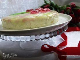 Творожно-кокосовый торт без выпечки