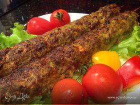 Люля-кебаб из индейки с овощами