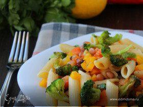 Салат из пасты с брокколи
