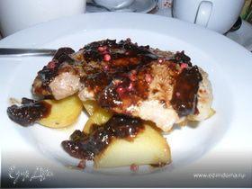 Мясо с инжирным соусом