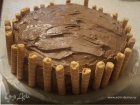 Миндальный торт с шоколадно-сливочным кремом
