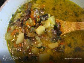 Грибной суп-карри