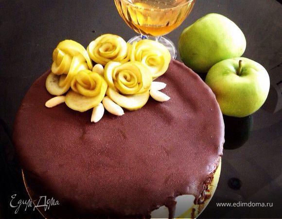 Медово-яблочный торт
