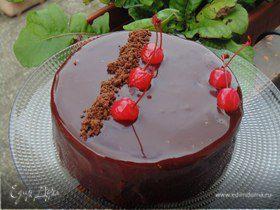 """Торт """"Красное и Черное"""" (шоколадно-вишневый)"""