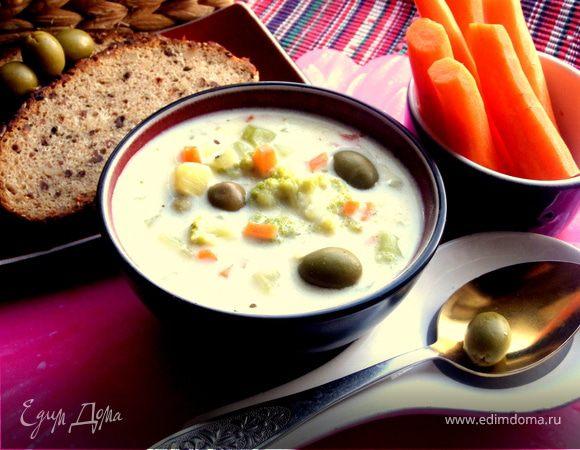 Овощной сырный суп