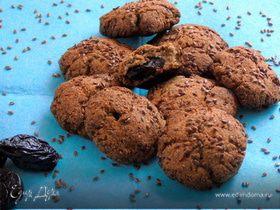 Льняное печенье с черносливом
