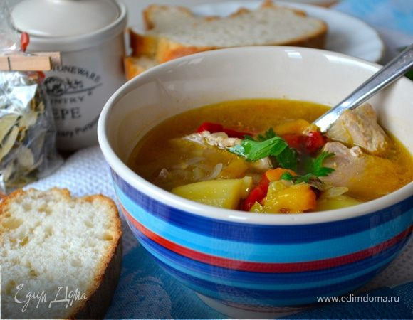 """Легкий супчик """"Тунец и картошка"""" (Zupetta di tonno e patate)"""