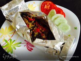 Рыба в конверте с овощами