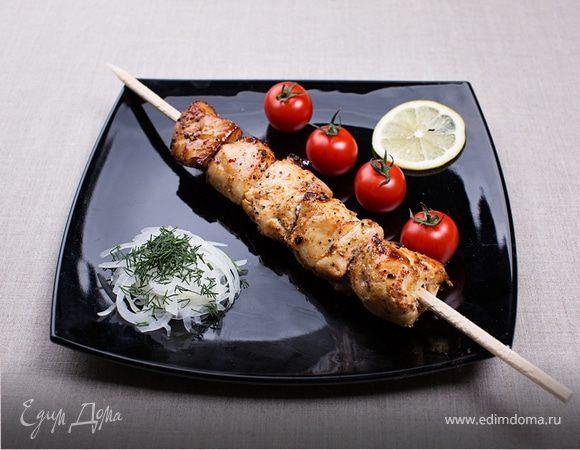Рецепт шашлыка из курицы в чесночно-луковом маринаде