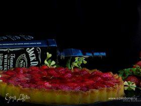 Клубнично-кокосовый тарт