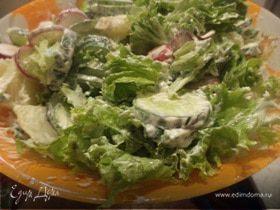 Салат из молодого картофеля и редиса