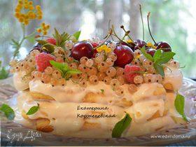 Летний торт из печенья савоярди