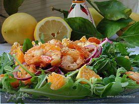 Сицилийский салат с креветками и апельсинами