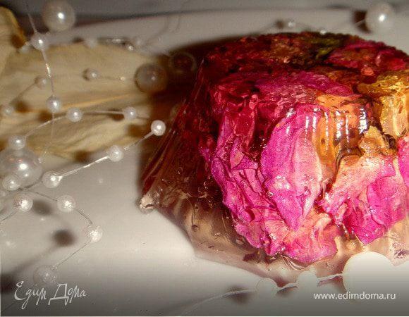"""Зеркальный десерт """"3D Flowers"""""""