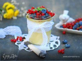 Ванильный крем-брюле с ягодами