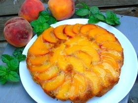 Апельсиново-мятный кекс с нектарином