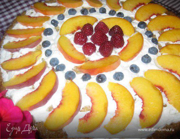 Многозерновая лепешка с фруктами я ягодами