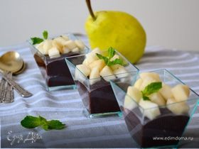 """Десерт """"Шоколад и груша"""""""