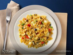 Фарфалле с овощами и сыром