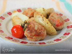 Тефтели из индейки с запеченным картофелем