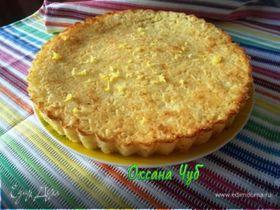 Простой лимонный пирог к чаю