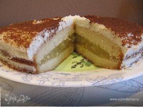 Яблочный торт-пирог с корицей