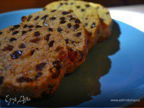 Овсяное печенье с изюмом и кусочками шоколада