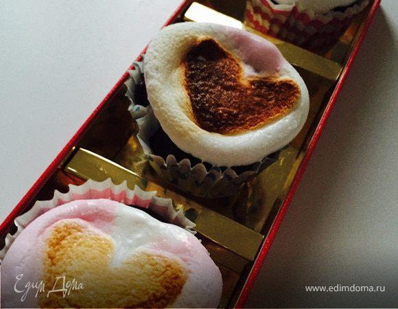 Капкейк с запеченным зефиром (Toasted Marshmallow Cupcake)