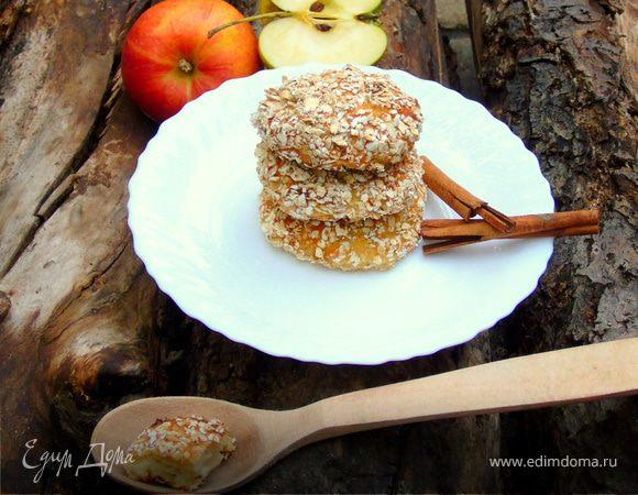 Яблочные сырники в овсяной панировке (без муки)