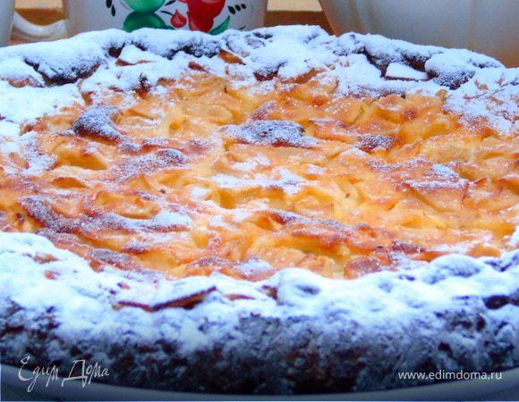 Яблочный пирог на ореховом тесте