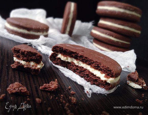 """Шоколадное печенье а-ля """"Орео"""""""