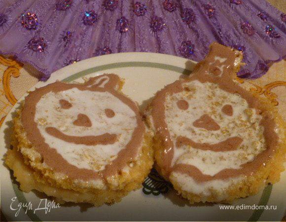 Тыквенные пирожные с сахарной глазурью