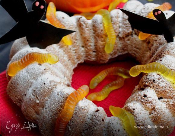 Тыквенный кекс с яблоками на хеллоуин