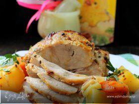 Мясо, запеченное с кардамоном и горчицей