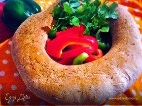 Хлеб с луком и чесноком