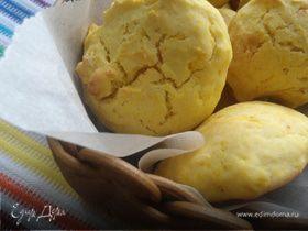 Мягкое тыквенное печенье на сметане и кукурузной муке