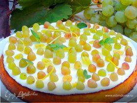 Лимонный манник с виноградом