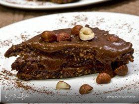 Сырое шоколадное пирожное