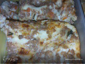 Лазанья с соусами Болоньезе и Бешамель