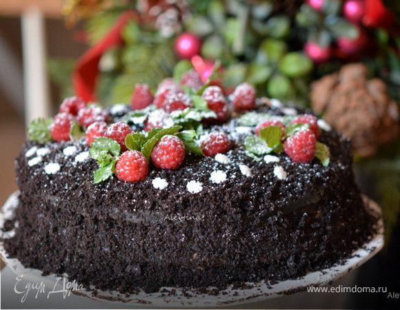Шоколадный торт с клюквой