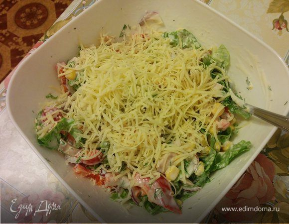 Рецепт салатика с селедкой радуга