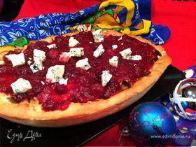 Пирог с индейкой и клюквенным соусом