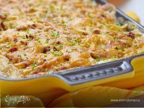 Картофельная запеканка с цукини и сыром чеддер