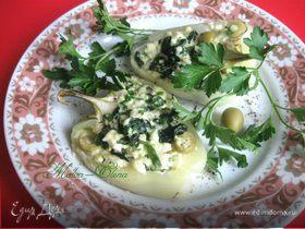Нежные перцы с рикоттой и оливками