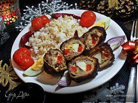 Мясные рулетики с сырной начинкой