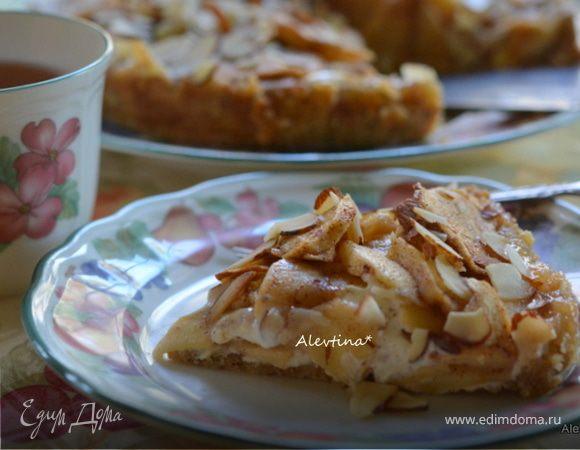 Яблочный баварский торт