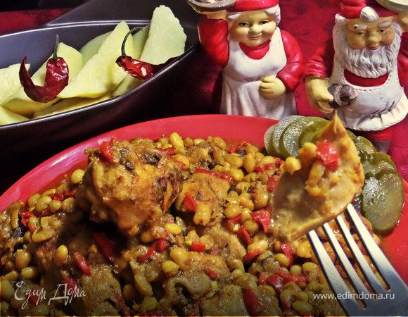 Карри с курицей и фасолью